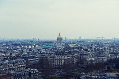 Panorama di Parigi in blu Fotografia Stock