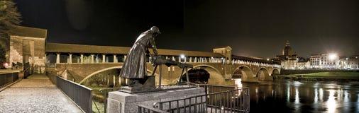 Panorama di Pavia Fotografia Stock Libera da Diritti