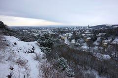 Panorama di Perchtoldsdorf e di Vienna fotografie stock