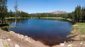 Panorama di piccolo lago nell'Utah sopra Park City Fotografia Stock Libera da Diritti