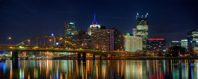 Panorama di Pittsburgh Fotografie Stock