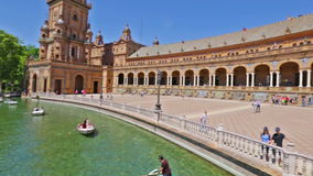 Panorama di Plaza de Espana stock footage
