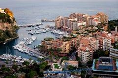Panorama di Port de Fontveille Monte Carlo fotografia stock libera da diritti