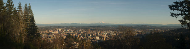 Panorama di Portland Fotografia Stock