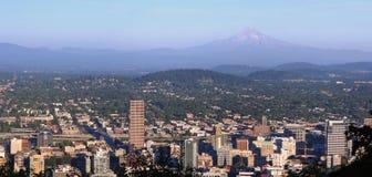 Panorama di Portland Oregon. fotografia stock