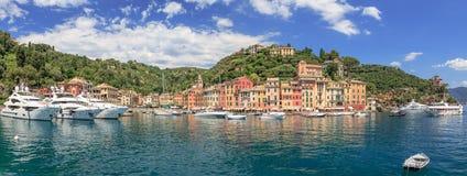 Panorama di Portofino Fotografie Stock