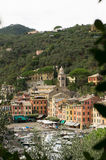 Panorama di Portofino Fotografia Stock