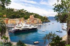 Panorama di Portofino Immagini Stock
