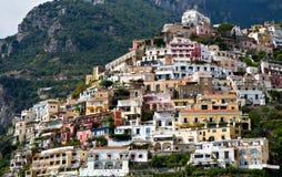 Panorama di Positano, Campania, Italia Immagine Stock Libera da Diritti