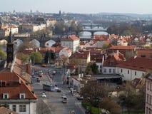Panorama di Praga fotografie stock libere da diritti