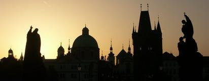 Panorama di Praga Fotografia Stock