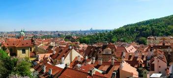 Panorama di Praga Immagine Stock
