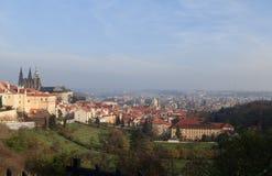Panorama di Praga in autunno fotografia stock libera da diritti