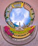 Panorama di prospettiva del pianeta del quadrato principale di Bolzano Immagini Stock