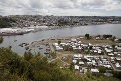 Panorama di Puerto Montt. Fotografie Stock
