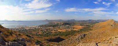 Panorama di Puerto Pollenca immagine stock