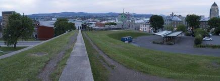 Panorama di Quebec City Fotografie Stock