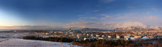Panorama di Reykjavík immagini stock libere da diritti
