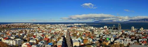 Panorama di Reykjavik immagini stock