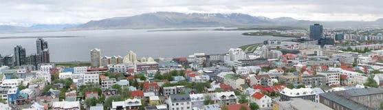 Panorama di Reykjavik Fotografie Stock