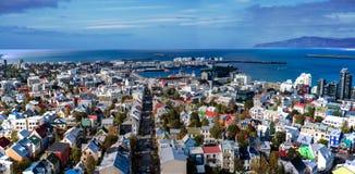 Panorama di Reykjavik Fotografia Stock Libera da Diritti