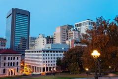 Panorama di Richmond al crepuscolo fotografie stock libere da diritti
