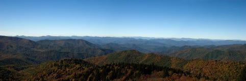 Panorama di Ridge blu Mountai Fotografie Stock