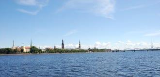 Panorama di Riga, Fotografia Stock Libera da Diritti