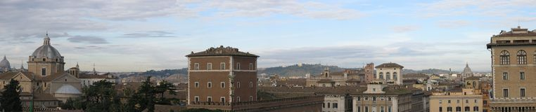 Panorama di Roma Immagine Stock