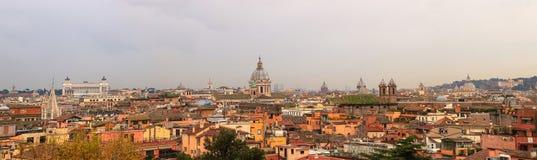 Panorama di Roma da Pincio Immagini Stock