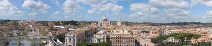 Panorama di Roma e di Vatican Immagine Stock