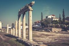 Panorama di Roman Agora di estate, Atene, Grecia Immagine Stock