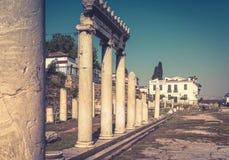 Panorama di Roman Agora di estate, Atene, Grecia Fotografia Stock