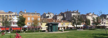Panorama di Rovinj, Croatia Immagini Stock