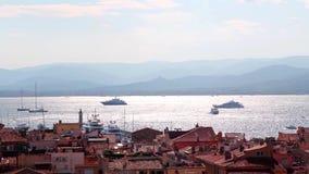 Panorama di Saint Tropez video d archivio