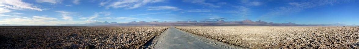 Panorama di Salar de Atacama fotografia stock