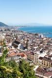 Panorama di Salerno - Italia Fotografie Stock