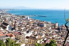 Panorama di Salerno - Italia Fotografia Stock