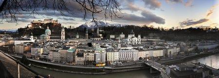 Panorama di Salisburgo Immagini Stock Libere da Diritti