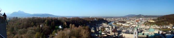 Panorama di Salisburgo Fotografie Stock