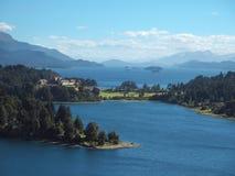 Panorama di San Carlos de Bariloche Fotografia Stock Libera da Diritti