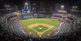 Panorama di San Diego Stadium durante il gioco di baseball fotografie stock libere da diritti