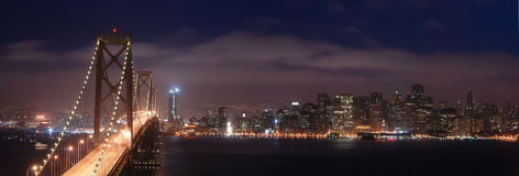 Panorama di San Francisco Immagini Stock Libere da Diritti
