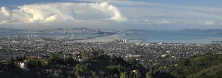 Panorama di San Francisco Bay Fotografia Stock Libera da Diritti