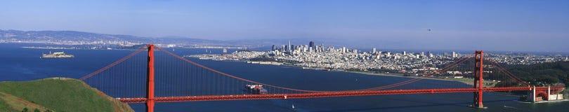 Panorama di San Francisco del cancello dorato Immagini Stock