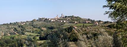Panorama di San Gimignano Fotografia Stock