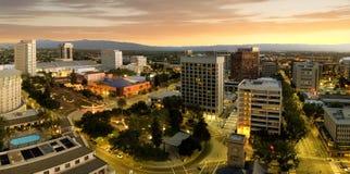 Panorama di San Jose California Downtown Fotografie Stock