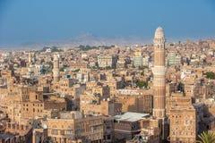 Panorama di Sanaa, Yemen fotografia stock libera da diritti