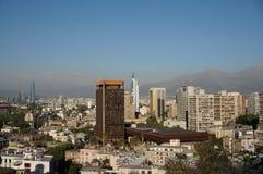 Panorama di Santiago de Chile fotografia stock libera da diritti
