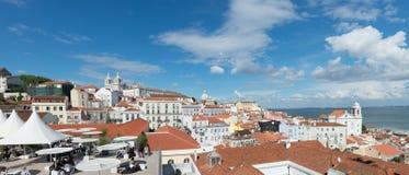 Panorama di sao Vicente de Fora Monastery a Lisbona Fotografia Stock